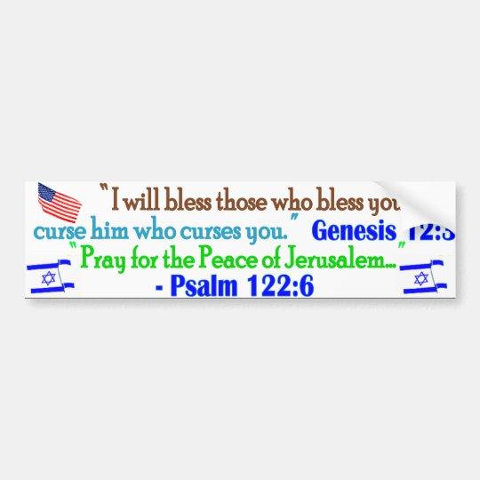 Bless Israel Bumper Sticker