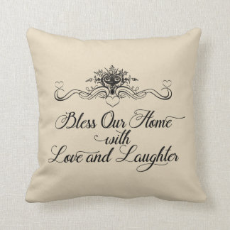 Bless Our Home With Love Throw Pillow