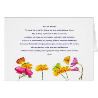 Bless our Marriage prayer Card