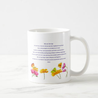Bless our Marriage prayer Classic White Coffee Mug