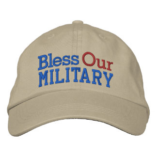 Bless Our Military Cap by SRF Embroidered Baseball Caps