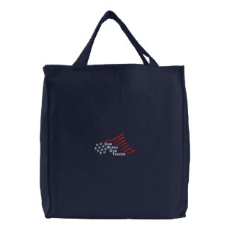 Bless Our Troops Canvas Bag