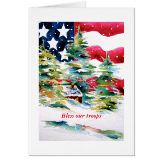 Bless our Troops Patriotic Card