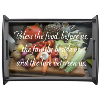 BLESS THE FOOD SERVING TRAY