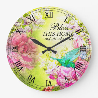 Bless This Home and All Who Enter Wall Clock