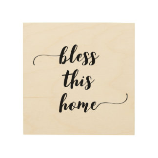 'Bless This Home' Wood Wall Art