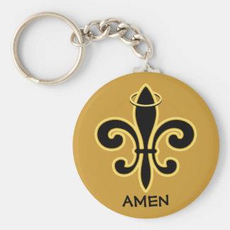 Bless You Boys Basic Round Button Keychain