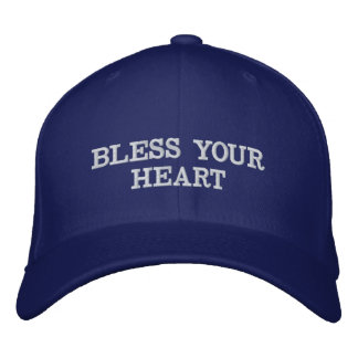 BLESS YOUR HEART EMBROIDERED BASEBALL CAP