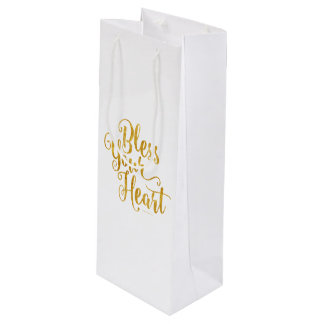 Bless Your Heart Wine Gift Bag