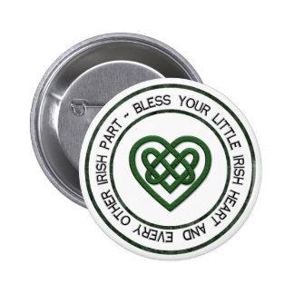 Bless your Irish Heart 2 Inch Round Button