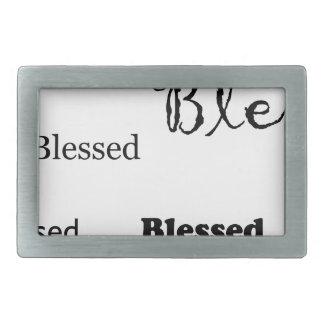 Blessed11 Rectangular Belt Buckles