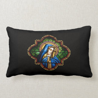 Blessed Among Women Stained Glass Pillow