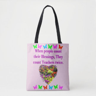 BLESSED AND INSPIRING TEACHER DESIGN TOTE BAG