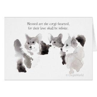 """Blessed Are the Corgi-Hearted"" Beatitude Card"