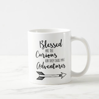 Blessed Are The Curious Coffee Mug With World Map