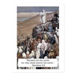 'Blessed are the meek...' Matthew 5:5 Postcard