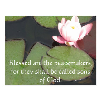 Blessed are the peacemakers, for they shall ...... postcard