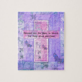 Blessed are the pure in heart BIBLE VERSE Puzzle