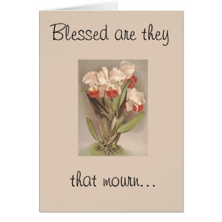 Blessed are they that mourn-Sympathy Card