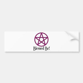 Blessed Be Pentagram Bumper Sticker