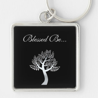 Blessed Be... Silver-Colored Square Keychain