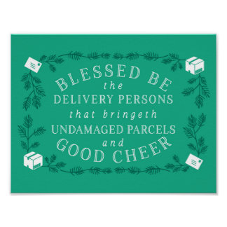 Blessed Be the Delivery Persons | Funny Holiday Poster