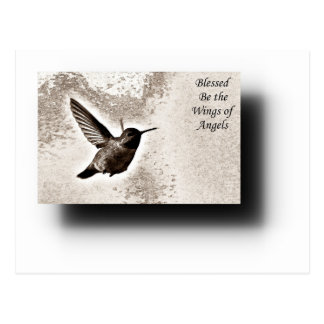 Blessed Be the Wings of Angels Postcard