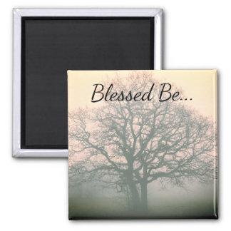 Blessed Be Winter Oak Magnet