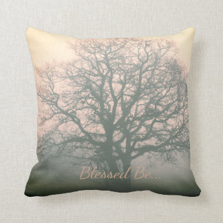Blessed Be Winter Oak Throw Pillow