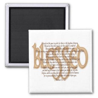 Blessed - Beatitudes Square Magnet