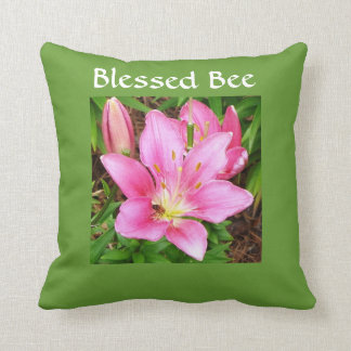 Blessed Bee Throw Pillow