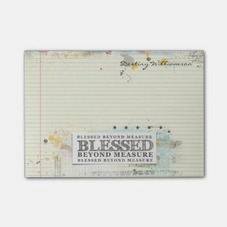 Blessed Beyond Measure Artistic Paint Post-it Notes