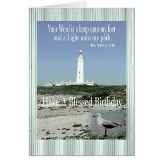 Blessed Birthday Lighthouse Card for anyone.