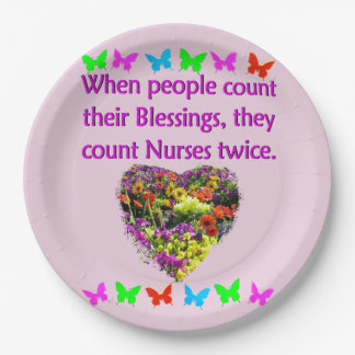 BLESSED BY A NURSE PAPER PLATE