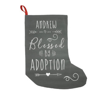 Blessed by Adoption - Foster Care, Adopt Gift Small Christmas Stocking