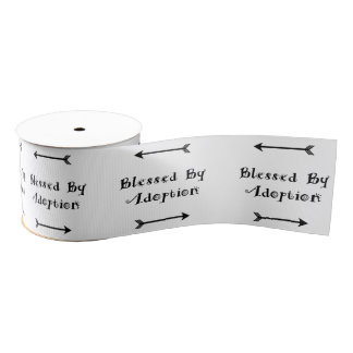 Blessed by Adoption - Foster Care Grosgrain Ribbon