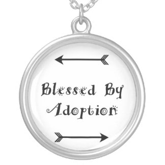 Blessed by Adoption - Foster Care Silver Plated Necklace