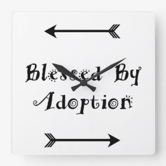 Blessed by Adoption - Foster Care Square Wall Clock