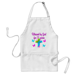 BLESSED BY GOD FOR 75 YEARS PERSONALIZED DESIGN STANDARD APRON