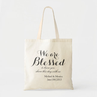 Blessed Custom Wedding Hotel Gift Tote Favor