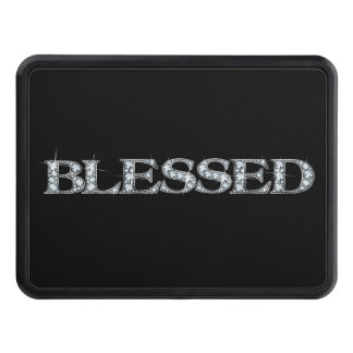 """BLESSED Faux-""""Diamond Bling"""" Trailer Hitch Cover"""