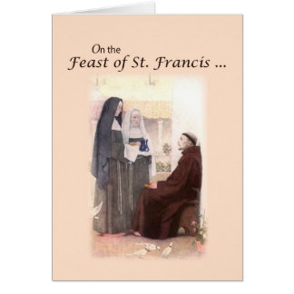 Blessed Feast Day of St. Francis with St. Clare Card