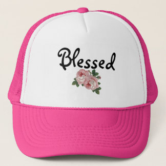 Blessed Floral Trucker Hat