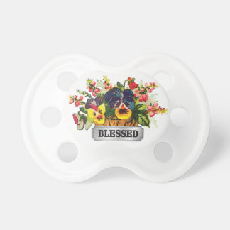 blessed flower arrangement baby pacifier
