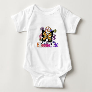 blessed flowers baby bodysuit