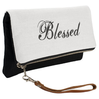 Blessed fold-over clutch