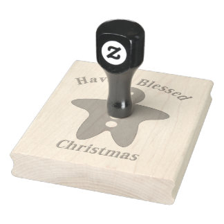 Blessed Gingerbread Man Rubber Stamp