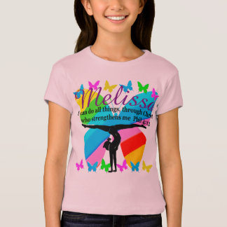 BLESSED GYMNAST PERSONALIZED SCRIPTURE VERSE TEE