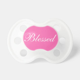 Blessed Hot Pink 0-6 months BooginHead® Pacifier