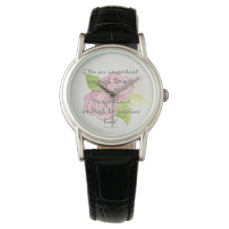 BLESSED & IMPORTANT ENOUGH TO ASK RECEIVE  FLORAL WATCH